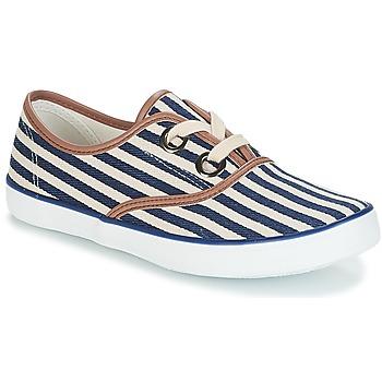 Schuhe Damen Sneaker Low André MELON Blau