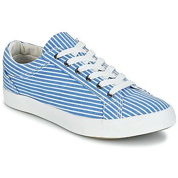 Schuhe Damen Sneaker Low André SESAME Gestreift / Blau