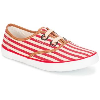 Schuhe Damen Sneaker Low André MELON Rot