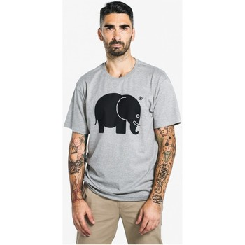 Kleidung T-Shirts Trendsplant Camiseta Cl?sica Black on Grey GRIS
