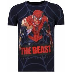 Kleidung Herren T-Shirts Local Fanatic The Beast Spider Strass Blau
