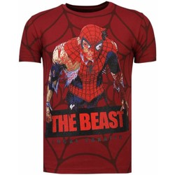 Kleidung Herren T-Shirts Local Fanatic The Beast Spider Strass Bordeaux