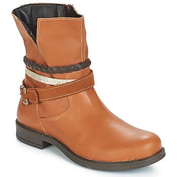 Schuhe Mädchen Boots Citrouille et Compagnie FURAMO Camel