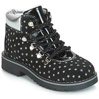 Schuhe Mädchen Boots Citrouille et Compagnie JORDA Schwarz / Silbern