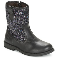 Schuhe Mädchen Boots Citrouille et Compagnie JUCKER Schwarz