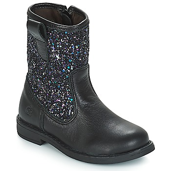 Schuhe Mädchen Klassische Stiefel Citrouille et Compagnie JUCKER Schwarz