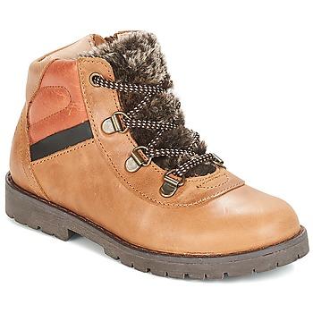 Schuhe Jungen Boots Citrouille et Compagnie JODILAEM Cognac