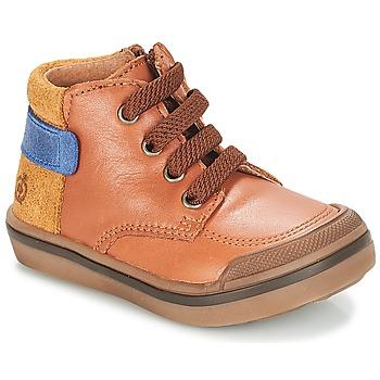 Schuhe Jungen Boots Citrouille et Compagnie JOUIZAE Camel / Gelb