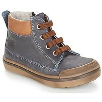 Schuhe Jungen Boots Citrouille et Compagnie JIK Blau / Cognac