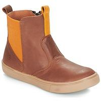 Schuhe Jungen Boots Citrouille et Compagnie JRYNE Camel / Gelb