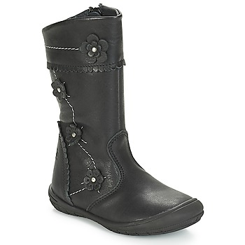 Schuhe Mädchen Klassische Stiefel Citrouille et Compagnie JAMATIS Schwarz