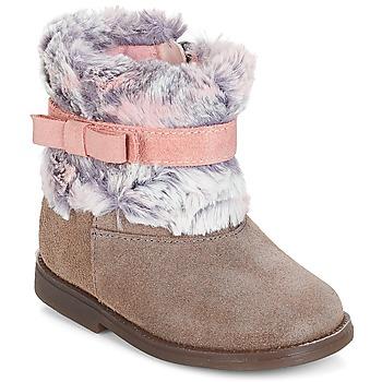 Schuhe Mädchen Boots Citrouille et Compagnie JERRADJE Grau / Rose