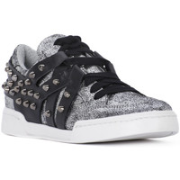 Schuhe Damen Sneaker Low At Go GO MICROCRACK ARGENTO Grigio