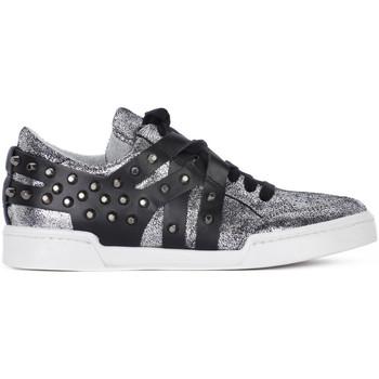 At Go GO MICROCRACK ARGENTO Grigio - Schuhe Sneaker Low Damen 5800