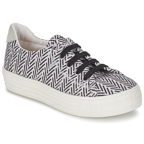 Schuhe Mädchen Sneaker Low Shwik STEP LO CUT Schwarz / Weiss