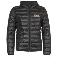 Kleidung Herren Daunenjacken Emporio Armani EA7 TRAIN CORE ID M DOWN LIGHT Schwarz / Gold