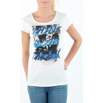 Kleidung Damen T-Shirts Lee T-shirt Damski SLIM T CLOUD DANCER L41MEVHA biały
