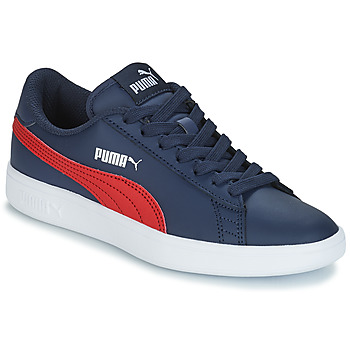 Schuhe Kinder Sneaker Low Puma SMASH V2L JR182 Marine