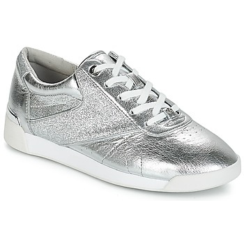 Schuhe Damen Sneaker Low MICHAEL Michael Kors ADDIE LACE UP Silbern