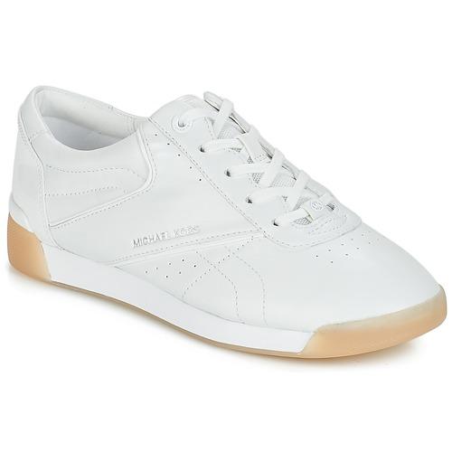 Schuhe Damen Sneaker Low MICHAEL Michael Kors ADDIE LACE UP Weiss