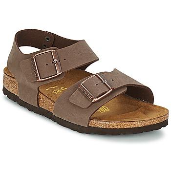 Schuhe Kinder Sandalen / Sandaletten Birkenstock NEW YORK Braun
