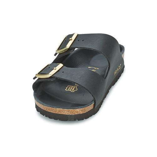 Birkenstock ARIZONA Schwarz / Goldfarben - Schuhe Pantoffel Damen 109