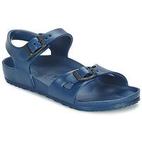 Schuhe Kinder Sandalen / Sandaletten Birkenstock RIO EVA Marine