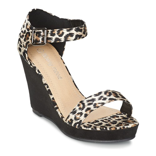 Schuhe Damen Sandalen / Sandaletten Moony Mood IVONGA Schwarz / Leopard