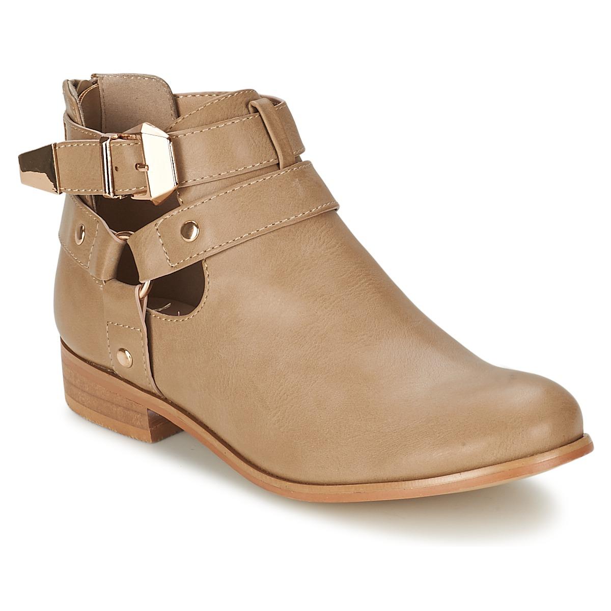 Moony Mood BEZAH Beige - Kostenloser Versand bei Spartoode ! - Schuhe Boots Damen 32,99 €