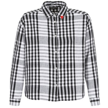 Kleidung Damen Hemden Scotch & Soda FRINDA Schwarz / Weiss