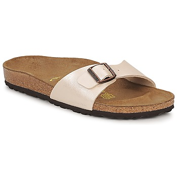 Schuhe Damen Pantoffel Birkenstock MADRID Creme