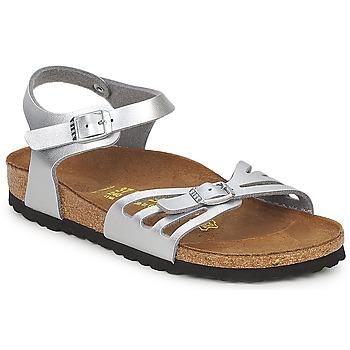 Schuhe Damen Sandalen / Sandaletten Birkenstock BALI Silbern