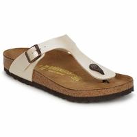 Schuhe Damen Zehensandalen Birkenstock GIZEH Creme