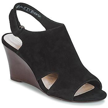 Schuhe Damen Sandalen / Sandaletten Clarks Raven Mist Schwarz