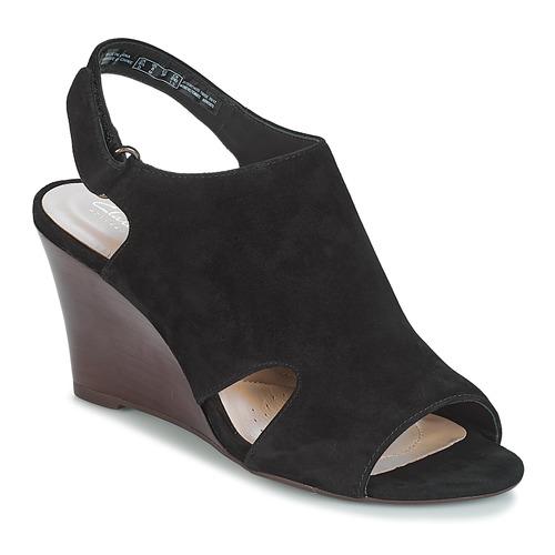 Clarks Raven Mist Schwarz  Schuhe Sandalen / Sandaletten Damen 87,20