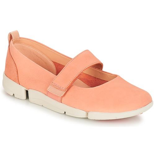 Clarks Tri Carrie Pink Schuhe Ballerinas Damen 50