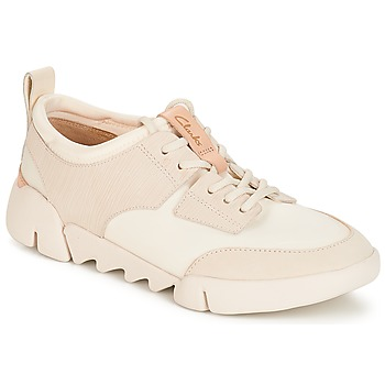 Schuhe Damen Sneaker Low Clarks Tri Spirit Weiss