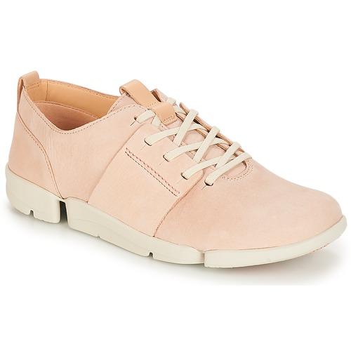 Clarks Tri Caitlin Pink  Schuhe Sneaker Low Damen 87,20
