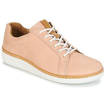 Schuhe Damen Derby-Schuhe Clarks Amberlee Rosa Beige