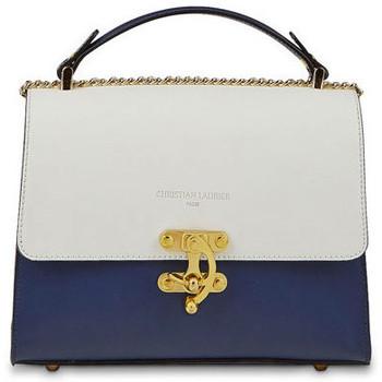 Taschen Damen Handtasche Christian Laurier ORA blanc bleu marine