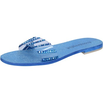 Schuhe Damen Sandalen / Sandaletten Eddy Daniele sandalen blau wildleder Kunststoff swarovski aw491 blau