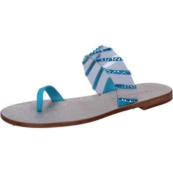 Schuhe Damen Sandalen / Sandaletten Eddy Daniele sandalen blau wildleder Kunststoff swarovski aw487 blau