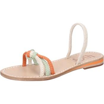 Schuhe Damen Sandalen / Sandaletten Eddy Daniele sandalen weiß corda grün orange aw479 mehrfarben