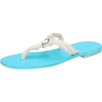 Schuhe Damen Sandalen / Sandaletten Eddy Daniele sandalen weiß corda hellblau swarovski aw509 weiß