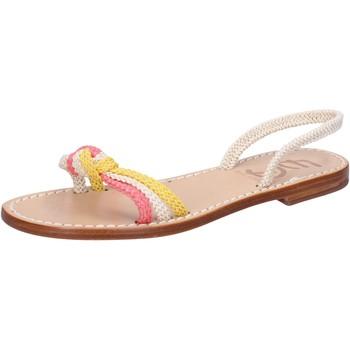 Schuhe Damen Sandalen / Sandaletten Eddy Daniele sandalen weiß corda pink gelb av411 mehrfarben