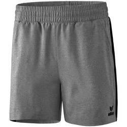Kleidung Damen Shorts / Bermudas Erima Short femme  Premium One 2.0 gris chiné/noir