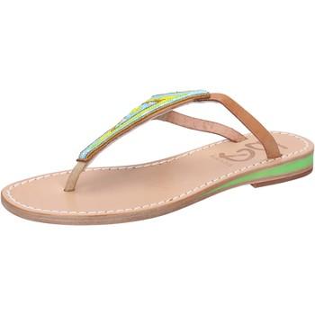 Schuhe Damen Sandalen / Sandaletten Eddy Daniele sandalen mehrfarben leder Perlen aw384 mehrfarben