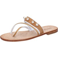 Schuhe Damen Sandalen / Sandaletten Eddy Daniele sandalen braun wildleder Perlen ax774 braun