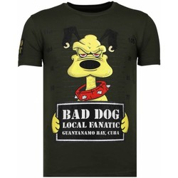 Kleidung Herren T-Shirts Local Fanatic Bad Dog Strass Grün