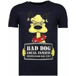 Kleidung Herren T-Shirts Local Fanatic Bad Dog Strass Blau
